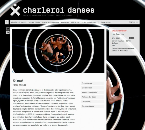 Charleroi Danses<em> &#8211; Website</em>